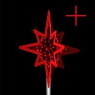 Верхушка-звезда из дюралайта с нитью (Z2)