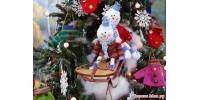 Объемные игрушки на елку