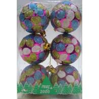 Набор шаров для елки д,6 см