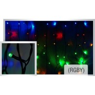 Светодиодный дождь/LED curtain lights IP44  2Mх 3M( BLUE, multicolor?RGBY)