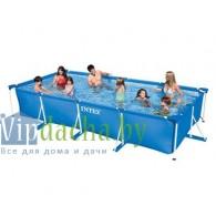 Каркасный бассейн INTEX 58982 (28273) Rectangular Frame Pool, 450x220x85см, ИНТЕКС