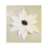 Елочная игрушка Цветок  белого цвета из пенопласта с маленькими шишками в центре, 30*45см