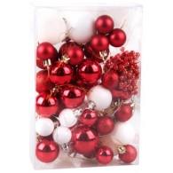 Набор елочных игрушек 5040N1-5491AK02, шары, бусы