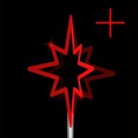 Верхушка-звезда из дюралайта Z2 без нити