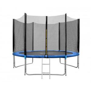 Батут FunFit 312 см - 10ft PRO (Усиленные опоры) с внешней сеткой и металлической лестницей