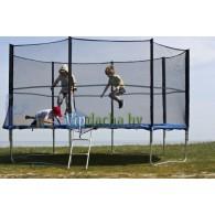 Батут складной с защитной сеткой и лестницей FunFit 3,12 метра