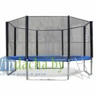 Комплект батут Trampoline Fitness 13FT- Extreme с сеткой и лестницей, диаметр 404 см